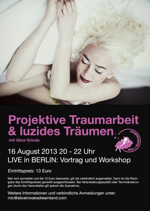 Vortrag und Workshop über luzides Träumen und projektive Traumarbeit.
