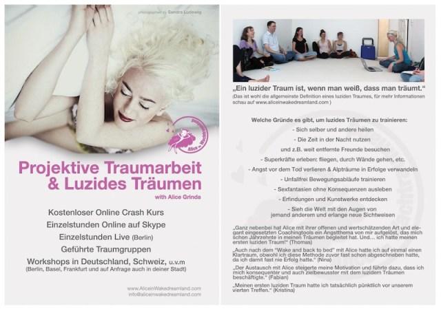 Flyer: Projektive Traumarbeit & luzides Träumen